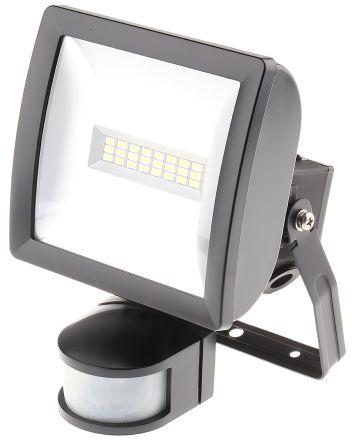 LED Floodlight 10W c/w PIR Black