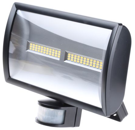 LED Floodlight 30W c/w PIR Black