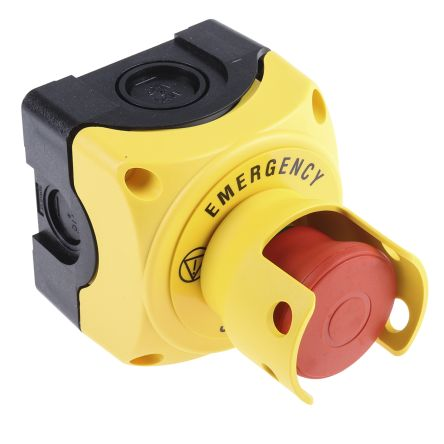 Lovato Shrouded Emergency stop button c//w 1 N//C contact