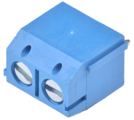 Wurth Elektronik 102 Series 5mm Pitch Straight, PCB Terminal Block, Through  Hole, 2 Way