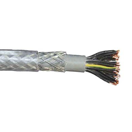 50 METRES 2-Core Reel Flat Flex Flexible Cable White 0.75mm² x 50m
