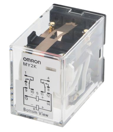 Omron DPDT Non-Latching Relay Plug In, 12V dc Coil, 3 A on