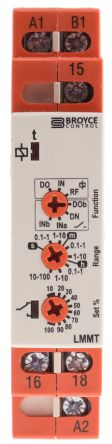 Multi Function Timer Relay, Screw, 0.1 s → 100 h, SPDT, 1 Contacts, SPDT, 12 → 230 V ac/dc