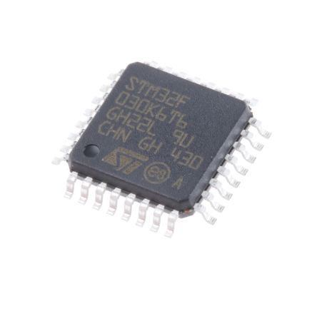 STMicroelectronics STM32F030K6T6, 32bit ARM Cortex Microcontroller, STM32F, 48MHz, 32 kB Flash, 32-Pin LQFP