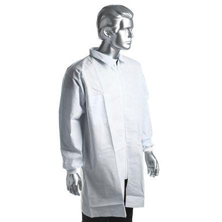 RS PRO White Unisex Disposable Lab Coat, M