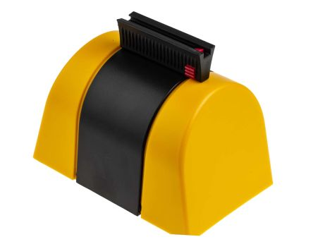 RS PRO Yellow Wall Mount Barrier, Sign Text Caution - Do Not Enter x 48mm.