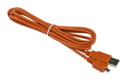 Arduino Male USB A to Male Micro USB B, 1.8m USB Cable Assembly