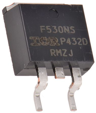 N-Channel MOSFET, 17 A, 100 V, 3-Pin D2PAK Infineon IRF530NSTRLPBF