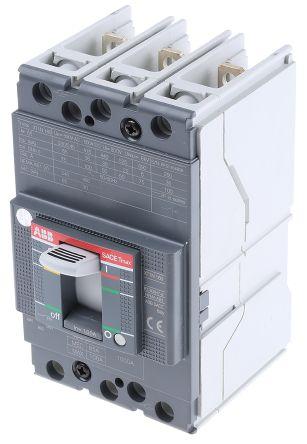 3P 100 A MCCB Molded Case Circuit Breaker, Breaking Capacity 36 kA, DIN Rail Mount Protecta XT1N