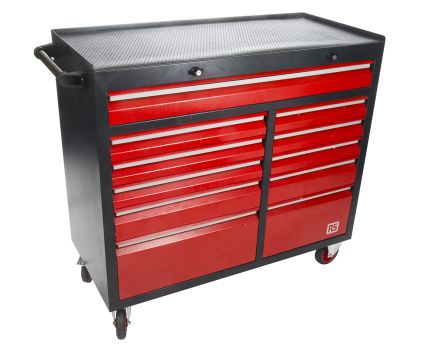 11 drawer Steel Wheeled Cabinet, 985mm x 450mm x 1085mm product photo