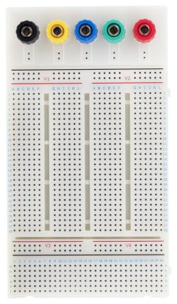 breadboard prototyping solderless breadboard 83 x 147 x 19mm rs rh uk rs online com Electronic Project Kits Breadboard Electronic Project Kits Breadboard