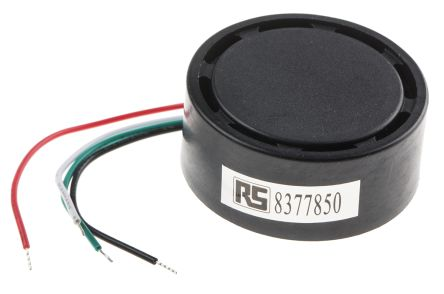 RS PRO 28V dc Wire Leads Magnetic Buzzer, ≥105dB Continuous, Slow & Fast Pulse
