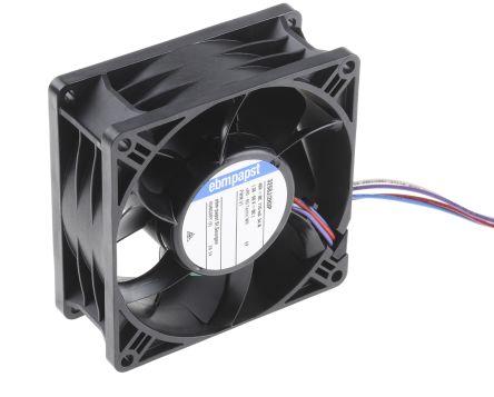 DC Axial Fan, 92 x 38.15 x 92mm, 270m³/h, 33.6W, 48 V dc (S-Panther Series)