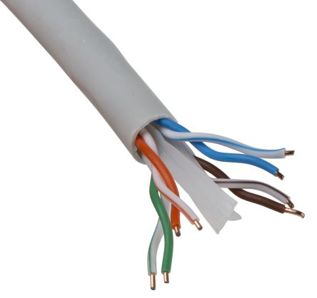 Fabulous Rs Pro Grey Cat6 Cable Utp Lszh Pvc Low Smoke Zero Halogen Lszh Wiring Cloud Hisonuggs Outletorg