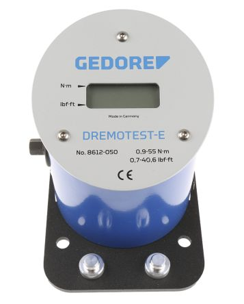 Gedore8612-050 10mm Digital Torque Tester, Range 0.9 → 55Nm ±1 % Accuracy