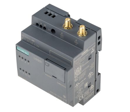 Siemens LOGO! 8 Communication Module, 12 → 24 V dc, 2 x Input, 2 x Output Without Display