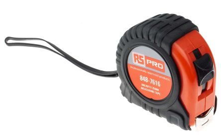 RS PRO 8m Tape Measure, Imperial, Metric