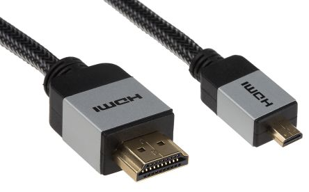 Micro HDMI to HDMI cable Aluminium 1.5m