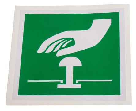 RS PRO Vinyl Green/White Safe Conditions Label, None, None