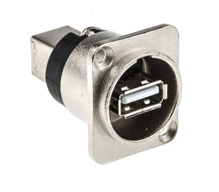 RS Pro CP Series, Panel Mount, Version 2.0 USB Connector, Receptacle