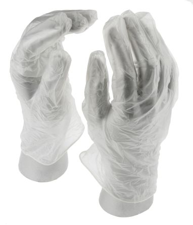 Clear Vinyl Gloves size 9.5 - XL Powdered x 100 product photo