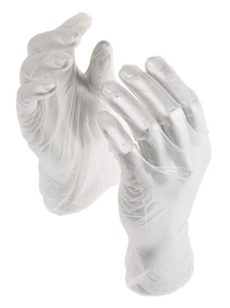 Clear Vinyl Gloves size 7.5 - M Powdered x 100 product photo