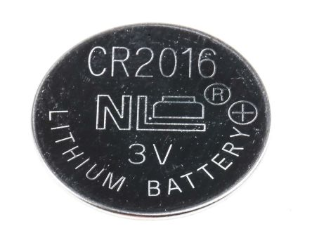 RS Button Battery, CR2016, 3V, 20mm Diameter product photo