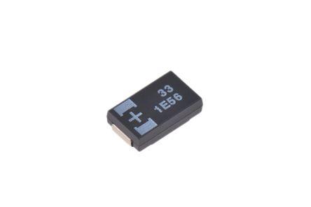 Panasonic 33μF 25V dc Tantalum Capacitor Polymer Solid ±20% Tolerance POSCAP TQC Series