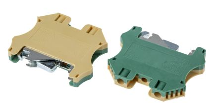 RS PRO 2 Way Screw DIN Rail, 57mm Length 26 → 8 AWG