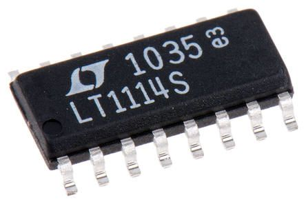 Linear Technology LTC1067CS#PBF, Active Filter, Dual, Universal Filter, 2nd, 4th Order Switched Capacitor 20kHz, 16-Pin