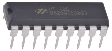 Holtek HT12E-18DIP, Encoder, 8 to 1, 2.4 → 12 V, 18-Pin PDIP