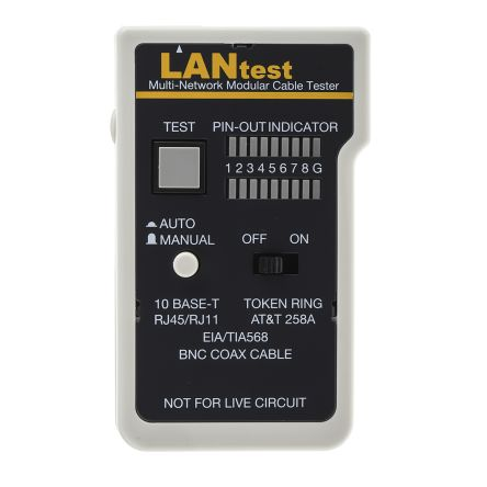 Cinch Connectors Network Cable Tester Cable Tester BNC, RJ11, RJ45