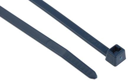 HellermannTyton, MCT Series Blue Metal Detectable Cable Tie, 200mm x 4.6 mm