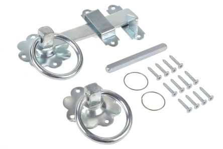 Steel Ring Gate Latch with BZP Finish product photo