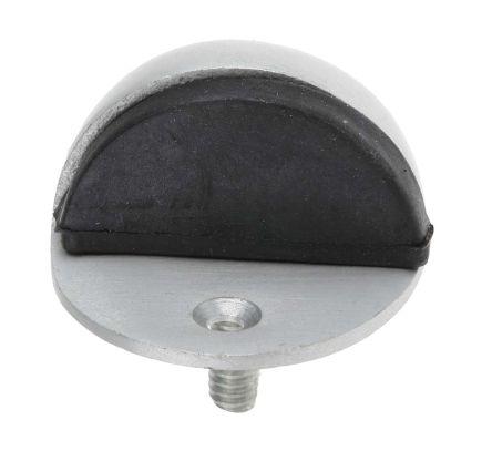 RS PRO Satin Oval Shield Aluminium Door Stop