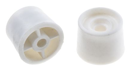 RS PRO White PVC PVC Door Stop, 25 mm Diameter