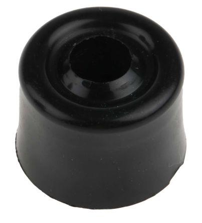 RS PRO Black PVC PVC Door Stop, 25 mm Diameter