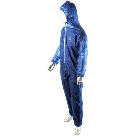 Unisex Blue Disposable Coverall, M product photo