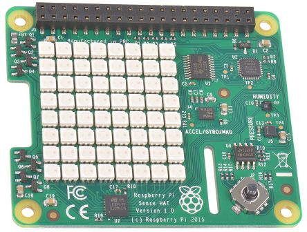 Raspberry Pi Sense Hat, Sense Inertial Measurement Unit (IMU) - 11 DoF HAT for Raspberry Pi