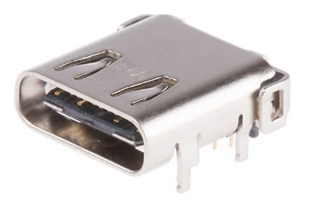 Female USB C Connector, Right Angle PCB Mount