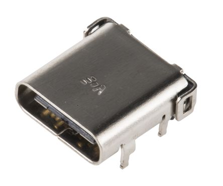 RS Pro Right Angle Type C USB Connector Receptacle, PCB Mount
