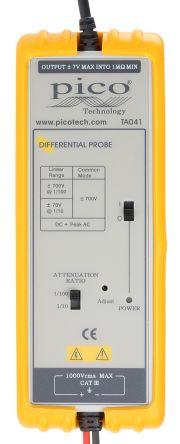 Pico Technology Oscilloscope Probe, Probe Type: Active, Differential 25MHz 700V 1:10, 1:100