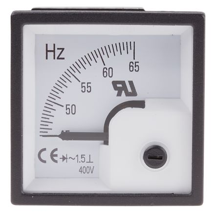 RS PRO Frequency Meter, 1.5 % 48mm x 48mm
