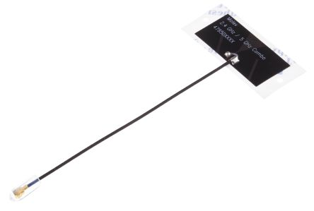 47950-0011 Molex - PCB WiFi (Dual Band)  Antenna, Adhesive Mount, (2.4 GHz, 5 GHz) Micro-Coaxial RF Connector
