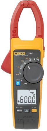 Fluke 375 FC Clamp Meter, Max Current 2.5 (Probe) kA ac, 600 (Jaw) A ac, 600A dc CAT III 1000 V, CAT IV 600 V
