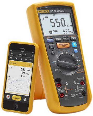 Fluke 1587 FC, Insulation Tester 2GΩ CAT III 1000 V, CAT IV 600 V