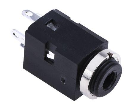 RS PRO 3.5 mm Panel Mount Stereo Jack Jack Socket, 3Pole