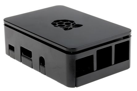 DesignSpark For Use With Raspberry Pi 2 B, Raspberry Pi 3 B, Raspberry Pi B+, Black Raspberry Pi Case