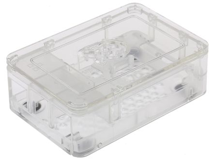 DesignSpark Raspberry Pi Case for use with Raspberry Pi 2 B, Raspberry Pi 3 B, Raspberry Pi B+, Clear