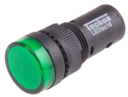 16mm LED Lámpara piloto que indica Blanco 230V control indicador de señal Panel De Luz